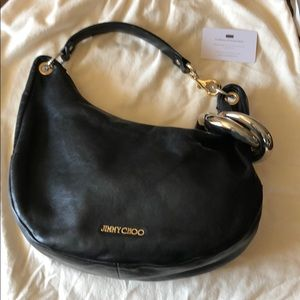 Jimmy Choo Solar Hobo - Black/Gold